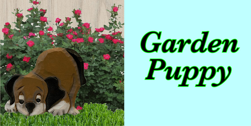 Garden Puppy Law ornamants