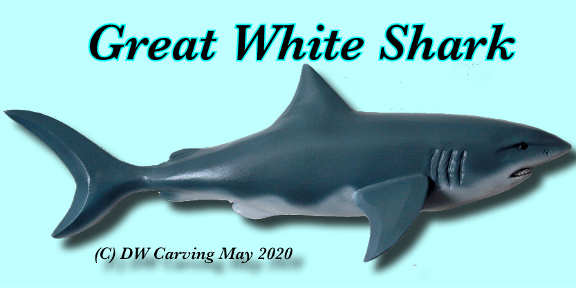 Carved Great White Shark