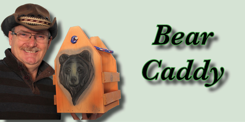 Bear Caddy,Craft Beer, Beer caddies, hand-carved and hand-painted, garden art, deck, art, wildlife