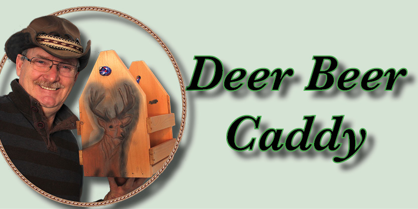 Deer Beer Caddy, Craft Beer, Beer caddies, hand-carved and hand-painted, garden art, deck, art