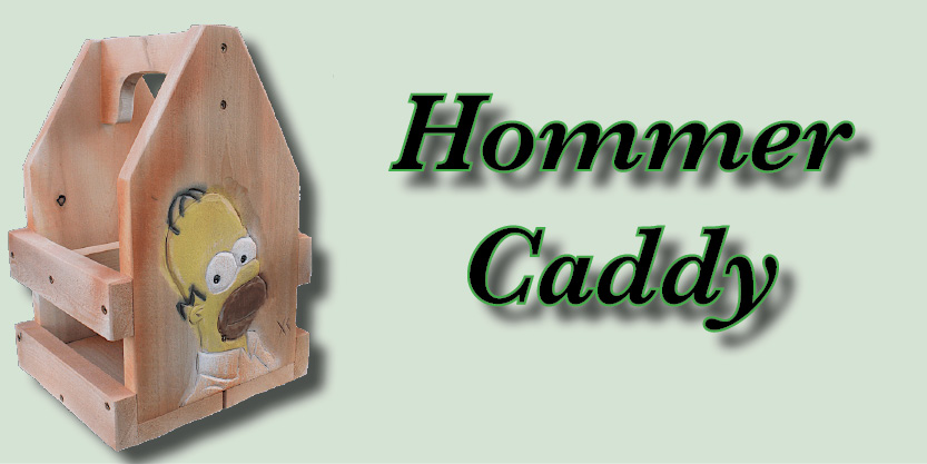 Hommer caddy, Craft Beer, Beer caddies, hand-carved and hand-painted, garden art, deck, art
