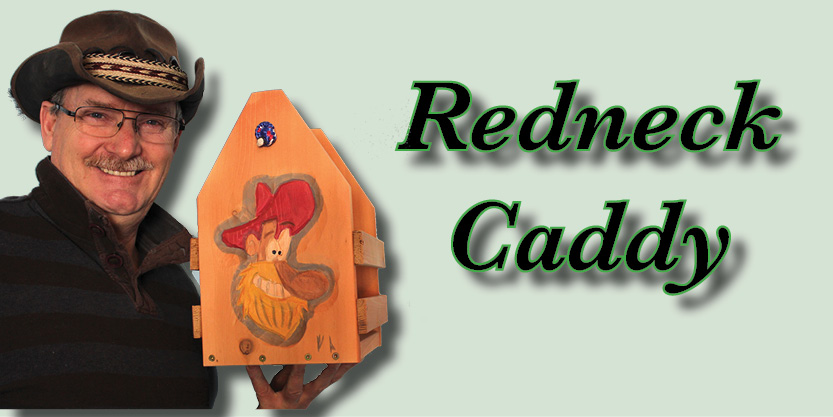 Redneck Caddy Craft Beer, Beer caddies, hand-carved and hand-painted, garden art, deck, art