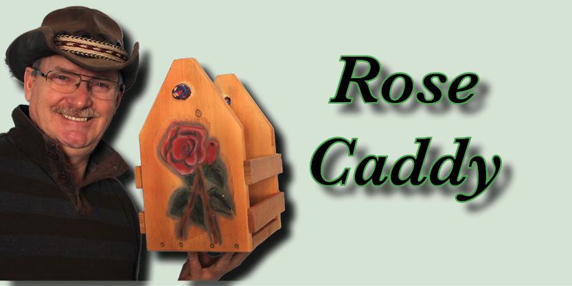 Rose Bottle caddy, Craft Beer, Beer caddies, hand-carved and hand-painted, garden art, deck, art