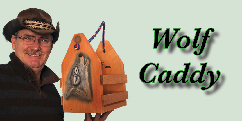 Wolf Beer Caddy, Craft Beer, Beer caddies, hand-carved and hand-painted, garden art, deck, art