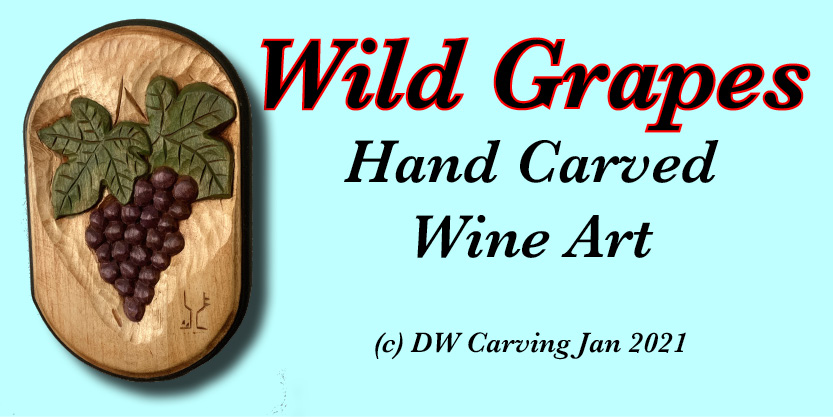 Wild Grapes first in our wine lovers carvings, wine, wall art, sculpture